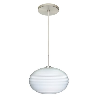 Pape 1-Light Mini Globe Pendant Finish: Satin Nickel