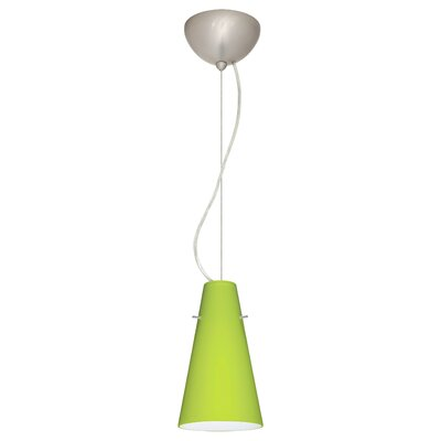 Cierro 1-Light Mini Pendant Finish: Satin Nickel