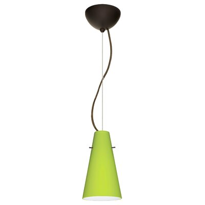 Cierro 1-Light Mini Pendant Finish: Brushed Bronze
