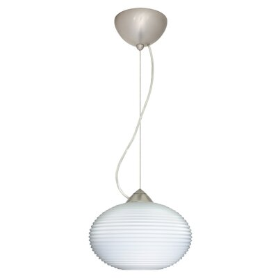 Pape 1-Light Globe Pendant Finish: Satin Nickel