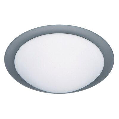 Besa Flush Mount Size: 4.25 H x 15.5 W x 15.5 D, Glass Shade: Frost