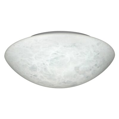 Besa Flush Mount Size: 3.875 H x 12.625 W x 12.625 D, Glass Shade: Carrera