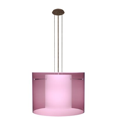 Pahu 3-Light Mini Pendant Finish: Brushed Bronze, Shade Color: Amethyst, Size: 11.75 H x 15.75 W x 15.75 D