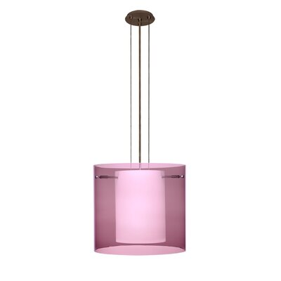 Pahu 3-Light Mini Pendant Finish: Brushed Bronze, Shade Color: Amethyst, Size: 10.63 H x 11.75 W x 11.75 D