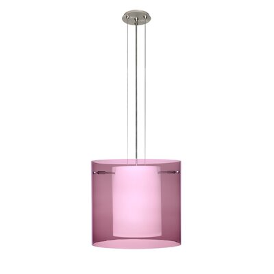 Pahu 3-Light Mini Pendant Finish: Satin Nickel, Shade Color: Amethyst, Size: 10.63 H x 11.75 W x 11.75 D