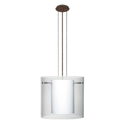 Pahu 3-Light Mini Pendant Finish: Brushed Bronze, Shade Color: Clear, Size: 10.63 H x 11.75 W x 11.75 D