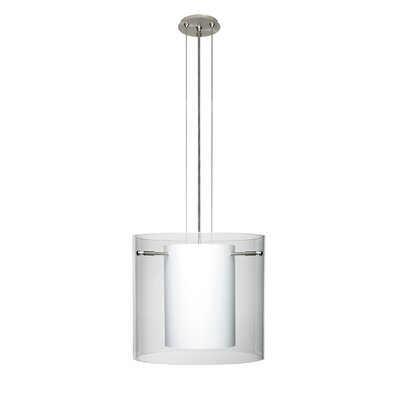 Pahu 3-Light Mini Pendant Finish: Satin Nickel, Shade Color: Clear, Size: 10.63 H x 11.75 W x 11.75 D