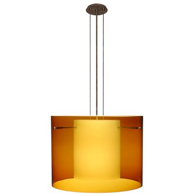 Pahu 3-Light Mini Pendant Finish: Brushed Bronze, Shade Color: Armagnac, Size: 11.75 H x 15.75 W x 15.75 D