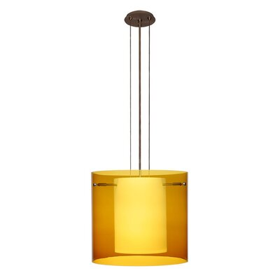 Pahu 3-Light Mini Pendant Finish: Brushed Bronze, Shade Color: Armagnac, Size: 10.63 H x 11.75 W x 11.75 D