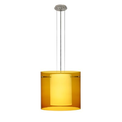 Pahu 3-Light Mini Pendant Finish: Satin Nickel, Shade Color: Armagnac, Size: 10.63 H x 11.75 W x 11.75 D