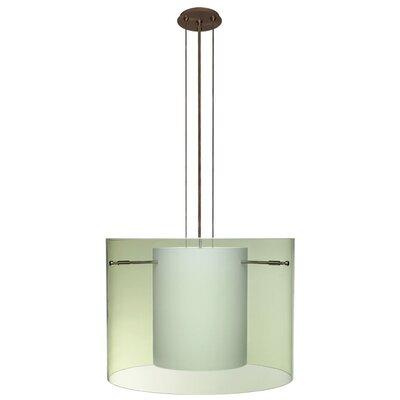 Pahu 3-Light Mini Pendant Finish: Brushed Bronze, Shade Color: Olive, Size: 11.75 H x 15.75 W x 15.75 D