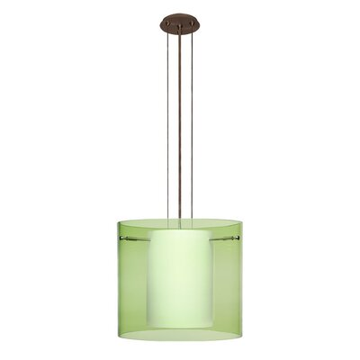 Pahu 3-Light Mini Pendant Finish: Brushed Bronze, Shade Color: Olive, Size: 10.63 H x 11.75 W x 11.75 D