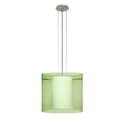 Pahu 3-Light Mini Pendant Finish: Satin Nickel, Size: 10.63 H x 11.75 W x 11.75 D, Shade Color: Olive