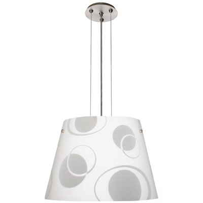 Amelia 3-Light Drum Pendant Finish: Satin Nickel