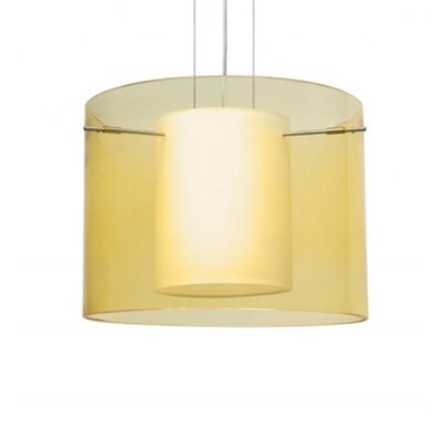 Pahu 1 Light Mini Pendant Finish: Satin Nickel, Shade Color: Transparent Gold / Opal 1KG-Y00707-SN