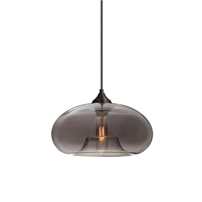 Bana 1-Light Geometric Pendant Finish: Brushed Bronze, Shade Color: Transmirrorr