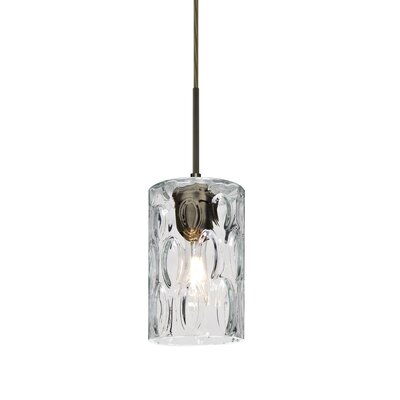 Cruise 1-Light Mini Pendant Finish: Bronze, Shade Color: Clear