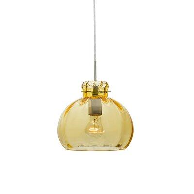 Pinta 1-Light Mini Pendant Shade Color: Gold, Finish: Satin Nickel, Size: 9 H x 10.25 W x 10.25 D