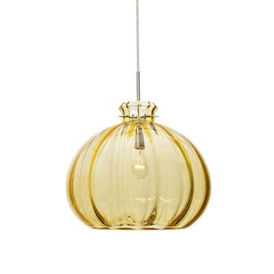 Pinta 1-Light Mini Pendant Shade Color: Gold, Size: 11.88 H x 14.25 W x 14.25 D, Finish: Satin Nickel