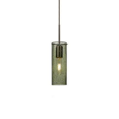 Cattalina 1-Light Mini Pendant Finish: Brushed Bronze, Shade Color: Moss, Size: 10 H x 3.5 W x 3.5 D