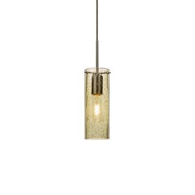 Cattalina 1-Light Mini Pendant Finish: Brushed Bronze, Shade Color: Gold, Size: 10 H x 3.5 W x 3.5 D