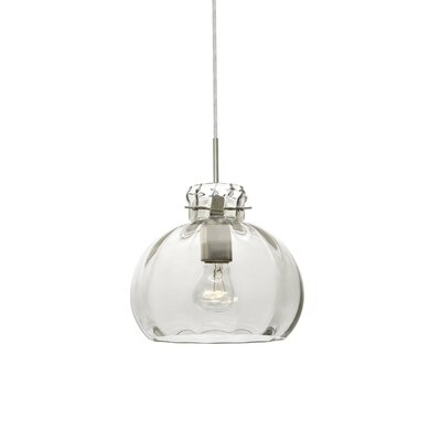 Pinta 1-Light Mini Pendant Finish: Satin Nickel, Shade Color: Clear, Size: 9 H x 10.25 W x 10.25 D