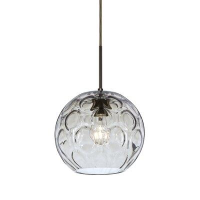 Bombay 1-Light Mini Globe Pendant Finish: Brushed Bronze, Shade Color: Clear