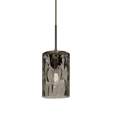 Cruise 1-Light Mini Pendant Finish: Bronze, Shade Color: Smoke