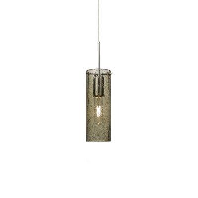 Juni 1-Light Mini Pendant Finish: Satin Nickel, Size: 10 H x 3.5 W x 3.5 D, Shade Color: Latte