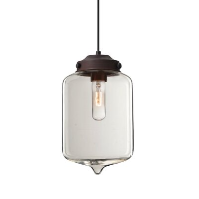Olin 1-Light Mini Pendant Finish: Brushed Bronze, Shade Color: Clear