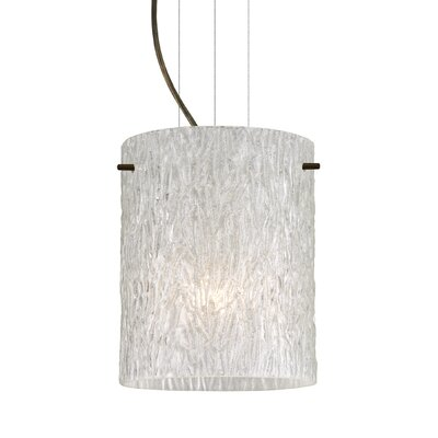Tamburo 1 LED Integrated Bulb Drum Pendant Finish: Brushed Bronze