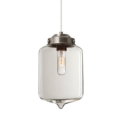 Olin 1-Light Mini Pendant Finish: Satin Nickel, Shade Color: Clear
