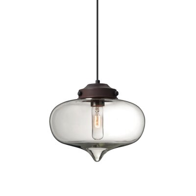 Sperling 1-Light Mini Pendant Finish: Brushed Bronze, Shade Color: Clear