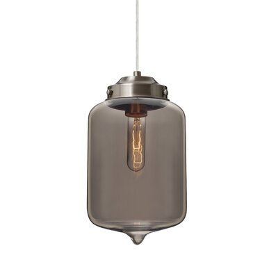 Olin 1-Light Mini Pendant Finish: Satin Nickel, Shade Color: Transmirror