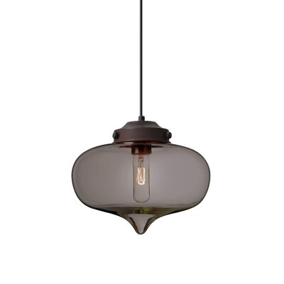 Sperling 1-Light Mini Pendant Finish: Brushed Bronze, Shade Color: Transmirror