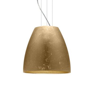 Bella 1-Light Mini Pendant Finish: Satin Nickel, Shade Color: Gold Foil, Size: 15 H x 16.5 W x 16.5 D