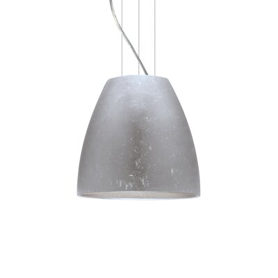 Bella 1-Light Mini Pendant Finish: Satin Nickel, Size: 12.75 H x 14.25 W x 14.25 D, Shade Color: Silver Foil