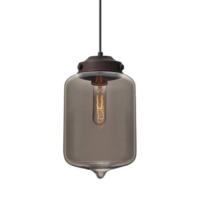 Olin 1-Light Mini Pendant Finish: Brushed Bronze, Shade Color: Transmirror