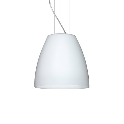 Bella 1-Light Mini Pendant Finish: Satin Nickel, Size: 12.75 H x 14.25 W x 14.25 D