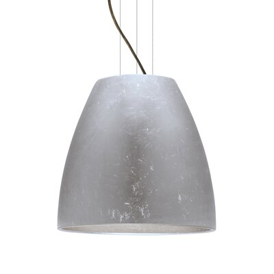 Bella 1-Light Mini Pendant Finish: Brushed Bronze, Shade Color: Silver Foil, Size: 17.75 H x 19.75 W x 19.75 D