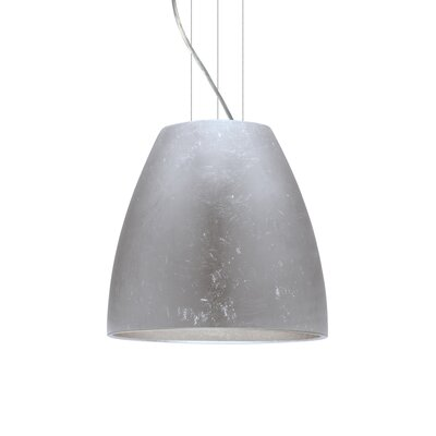 Bella 1-Light Mini Pendant Finish: Satin Nickel, Shade Color: Silver Foil, Size: 15 H x 16.5 W x 16.5 D