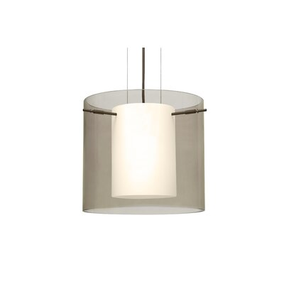 Pahu 1-Light Mini Pendant Finish: Brushed Bronze, Size: 10.63 H x 11.75 W x 11.75 D, Shade Color: Gold