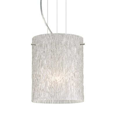 Tamburo 1 Bulb Drum Pendant Finish: Satin Nickel