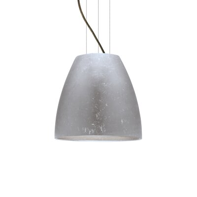 Bella 1-Light Mini Pendant Finish: Satin Nickel, Shade Color: Gold Foil, Size: 17.75 H x 19.75 W x 19.75 D