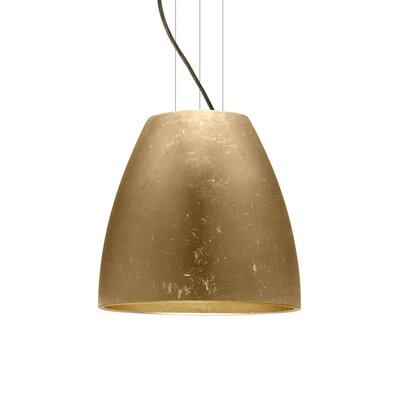 Bella 1-Light Mini Pendant Finish: Brushed Bronze, Shade Color: Gold Foil, Size: 15 H x 16.5 W x 16.5 D