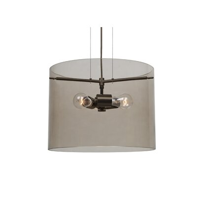 Pahu 3-Light Mini Pendant Finish: Brushed Bronze, Size: 11.75 H x 15.75 W x 15.75 D