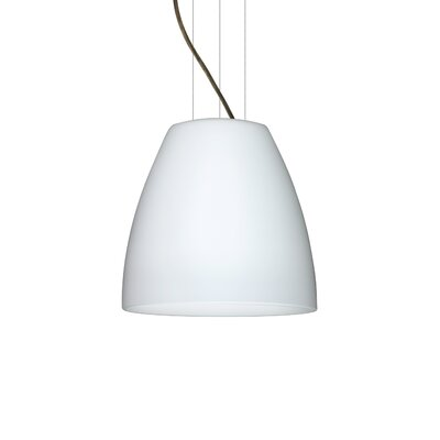 Bella 1-Light Mini Pendant Finish: Brushed Bronze, Size: 12.75 H x 14.25 W x 14.25 D