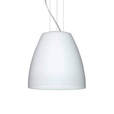 Bella 1-Light Mini Pendant Finish: Satin Nickel, Size: 15