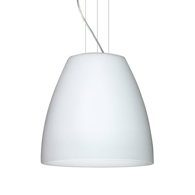 Bella 1-Light Mini Pendant Finish: Satin Nickel, Size: 17.75