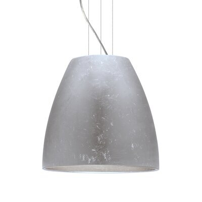 Bella 1-Light Mini Pendant Finish: Satin Nickel, Shade Color: Silver Foil, Size: 17.75 H x 19.75 W x 19.75 D